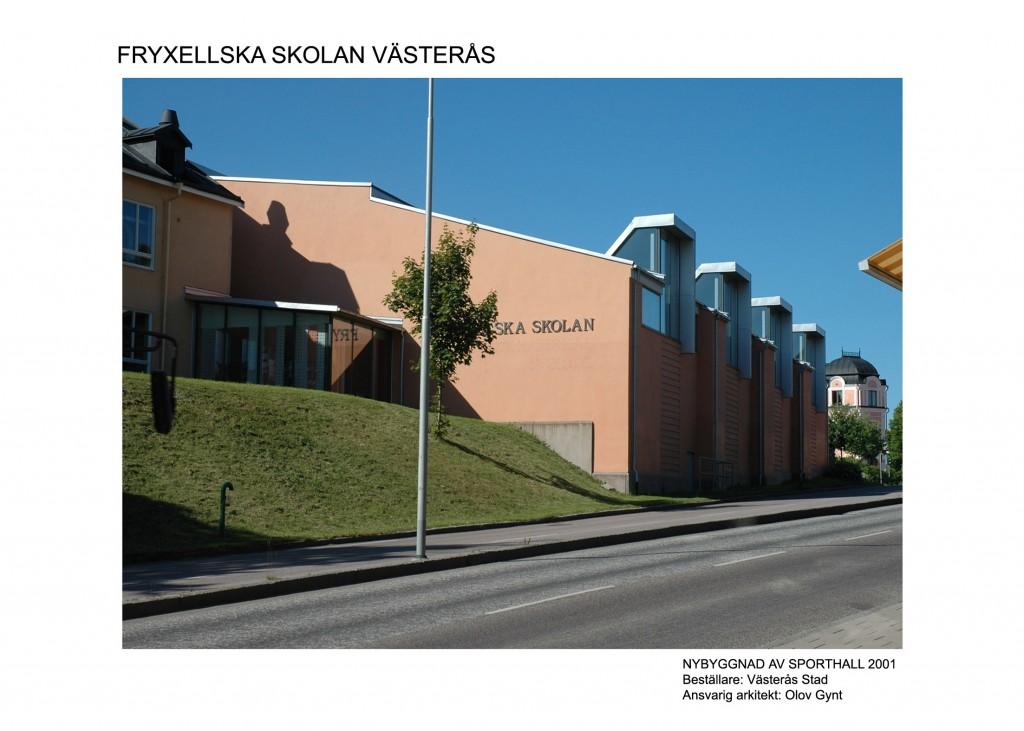 2001-2003, Fryxellska skolan Västerås